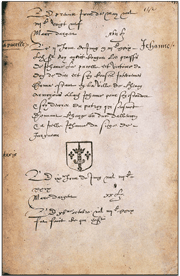 Original 1429 document granting Joan her coat of arms