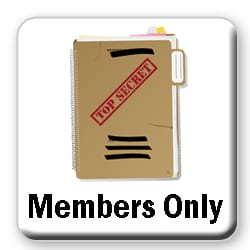 Top Secret folder button for members only page